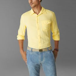 Casual Shirts Dockers-Dockers ®  THE ALPHA KHAKI SHIRT-GAULDA YELLOW