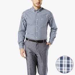 Dockers-Soft No Wrinkle Shirt, Standard Fit-Medieval Blue Plaid