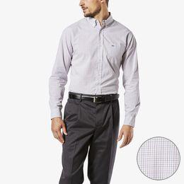 Dockers-Essential Poplin Shirt, Standard Fit-Caelan Samba Check