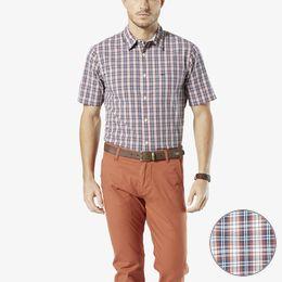 Dockers-Laundered Poplin Short Sleeve Shirt, Standard Fit-Jory Plaid