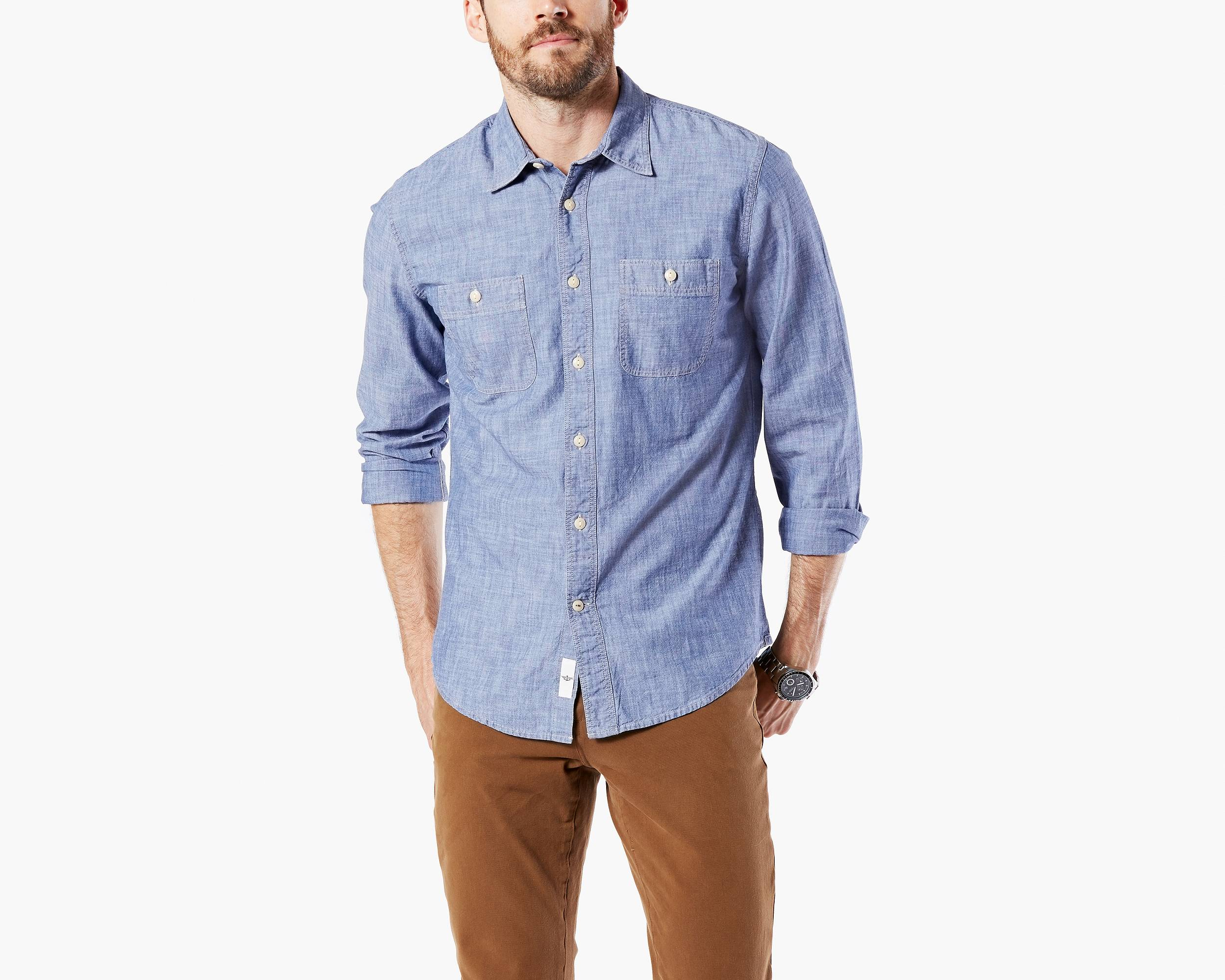 Cufflink shirt with jeans