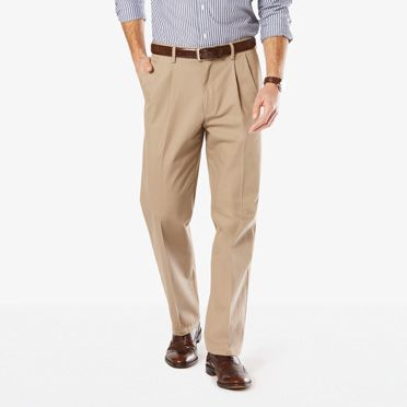 Signature Stretch Khaki, Classic Fit, Pleated