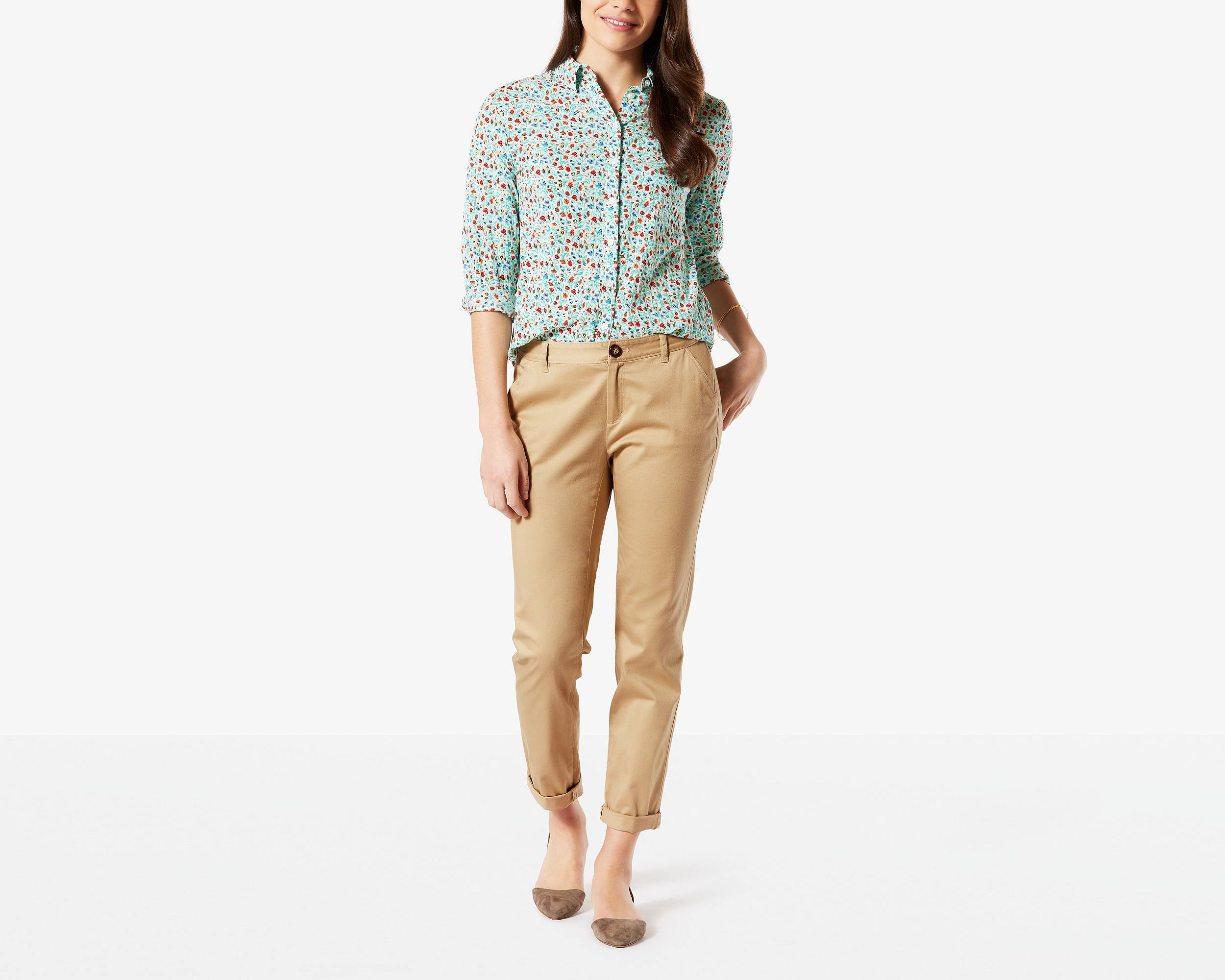 beige pants women - Pi Pants