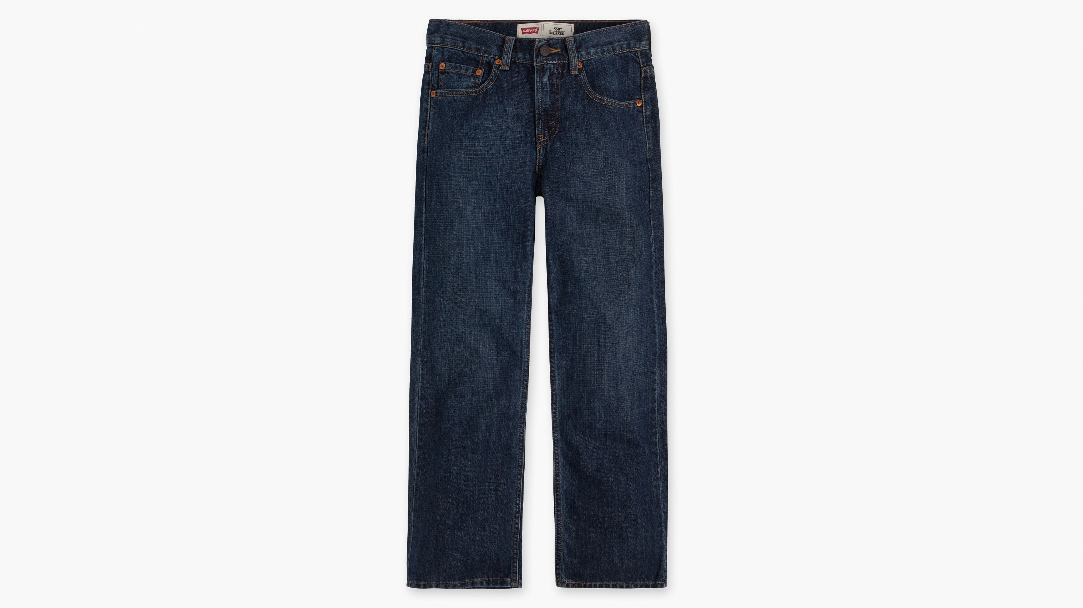 Boys (8-20) 550™ Relaxed Fit Jeans (Husky) - Dark Crosshatch