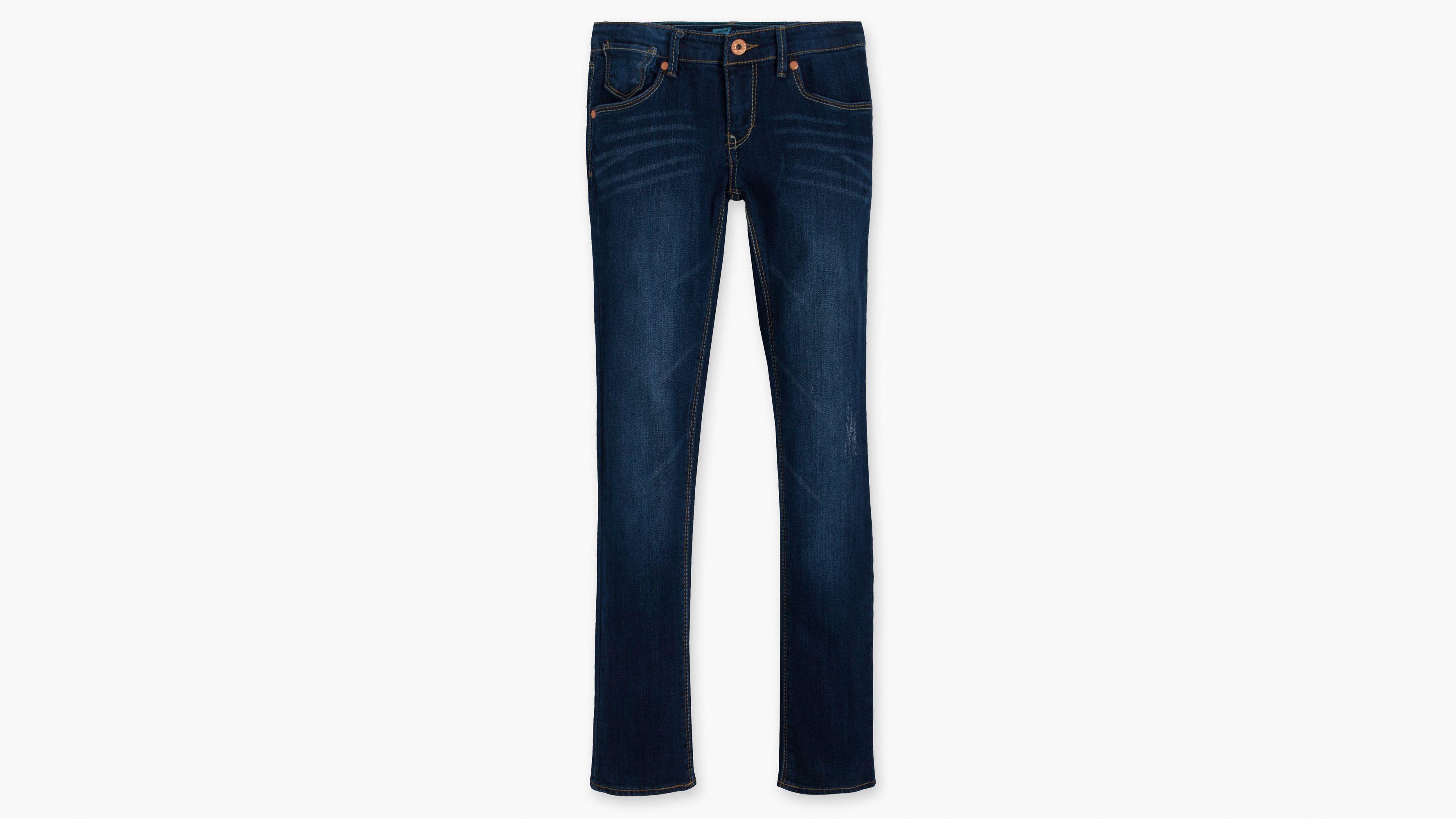 Girls (7-16) Skinny Jeans - Dark Sky