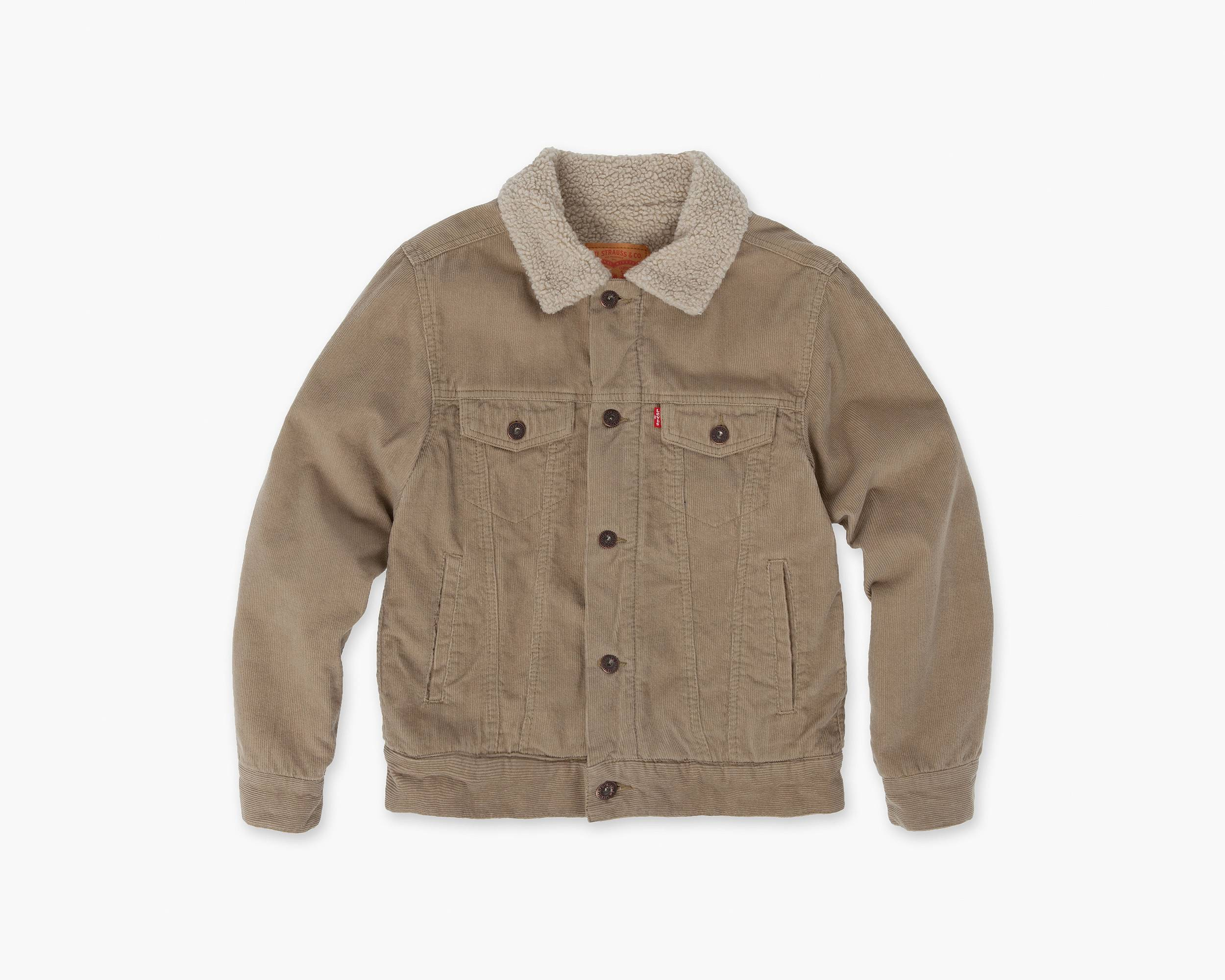 Boys (8-20) Sherpa Trucker Jacket | Surplus Khaki | Levi's® US