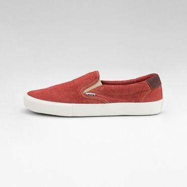 White Tab Slip On Sneakers