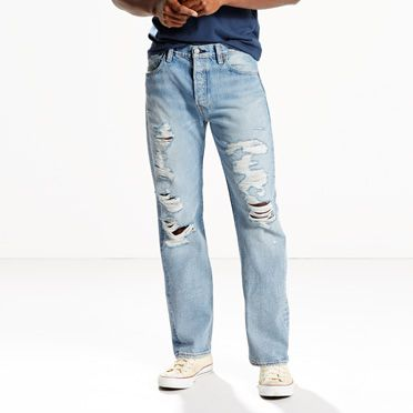 Levis Mens 501 Original Fit Jeans in David