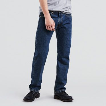 dark blue stone washed 505� jeans for men levis174