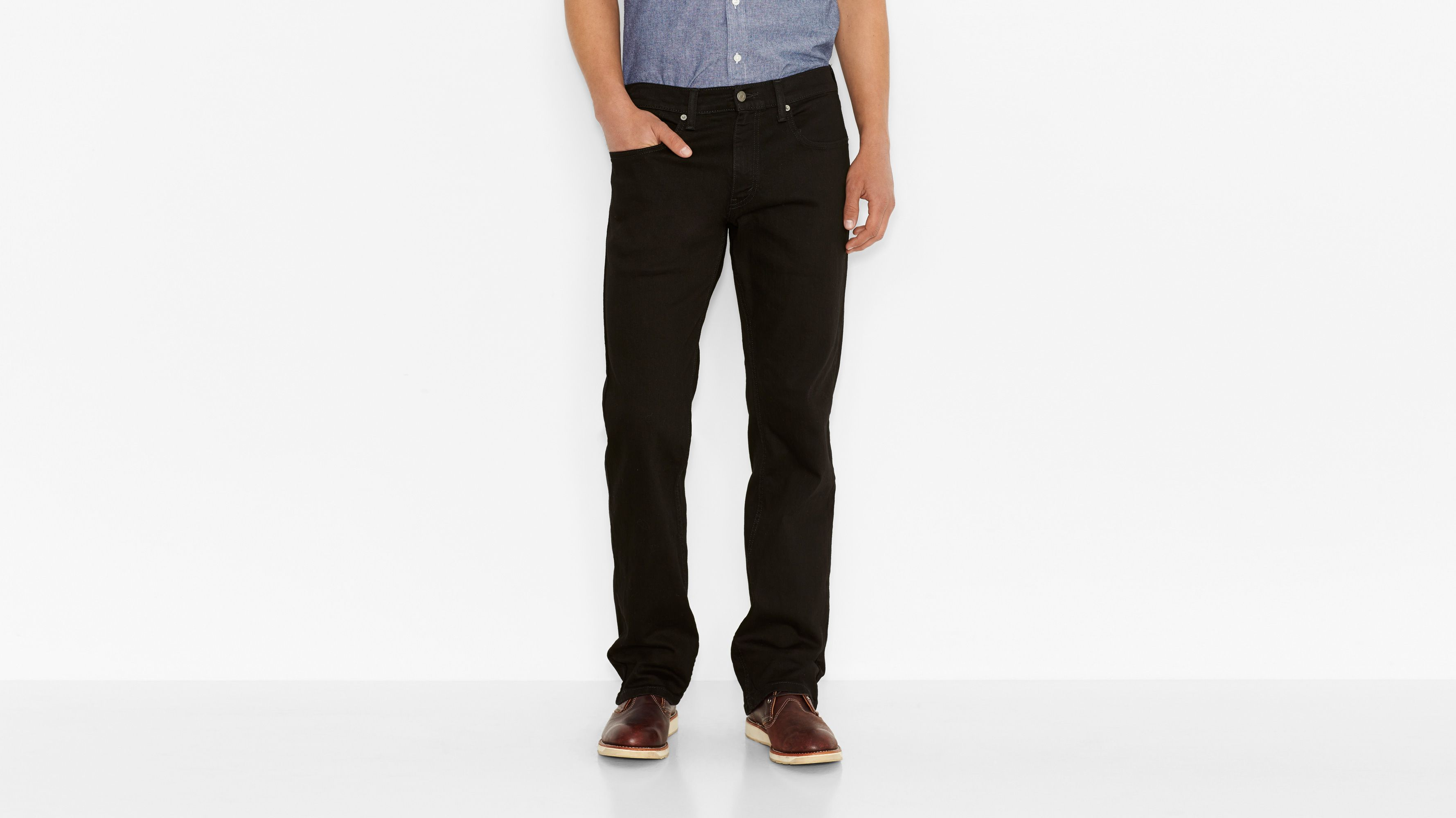 559™ Relaxed Straight Jeans - Black