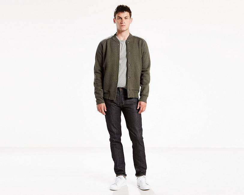 511™ Blue Black Raw Denim Slim Jeans for Men   Levi's®