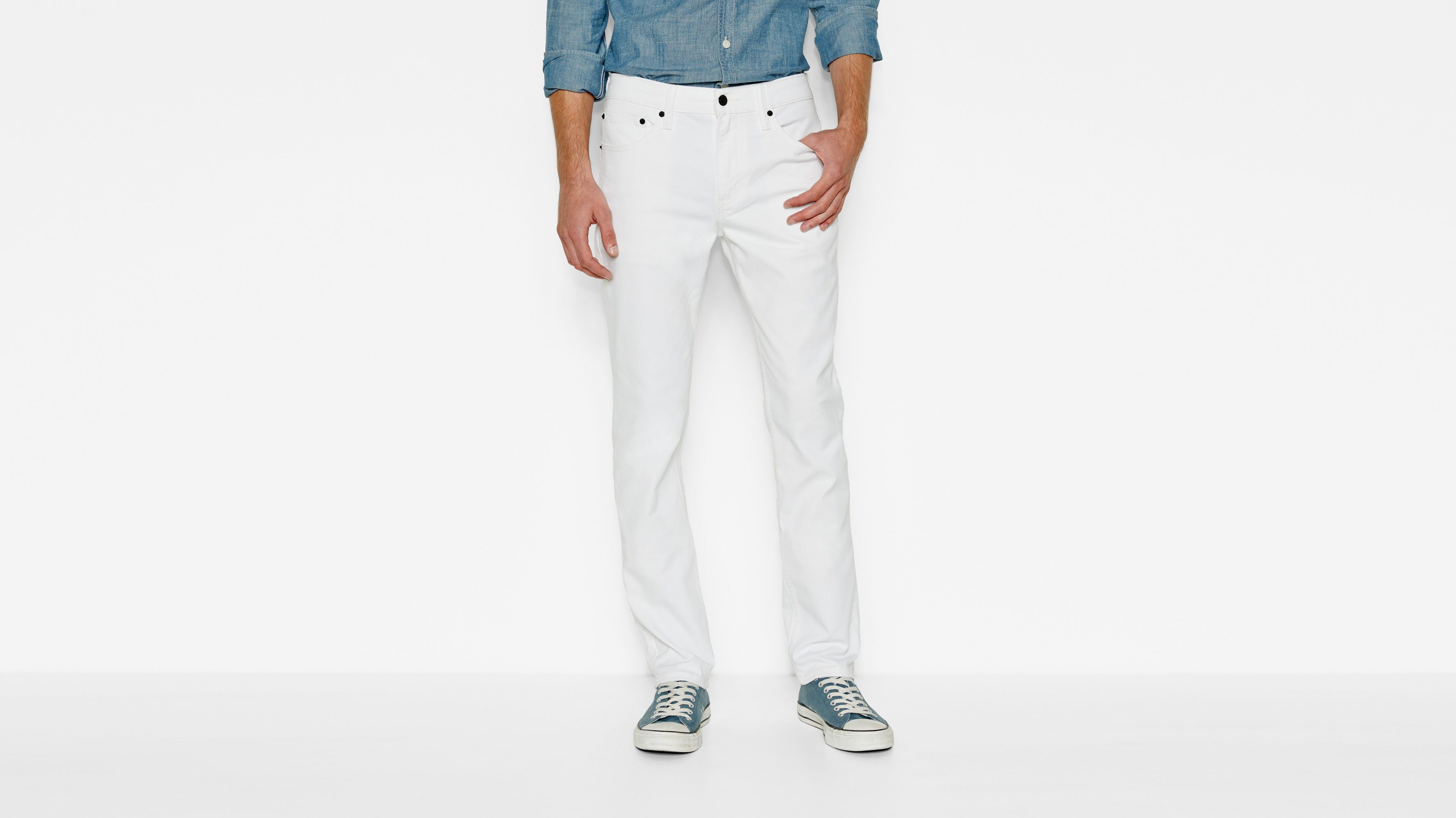 511™ Slim Fit Jeans - White