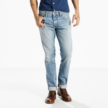 """Levis-511™ Slim Fit Selvedge Jeans-Quicksand"""