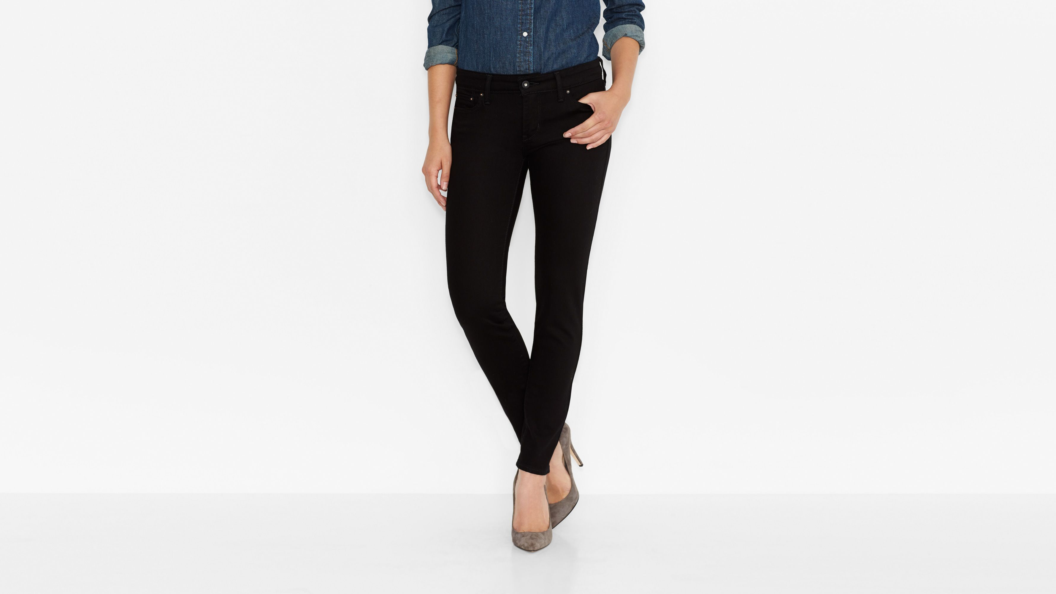 Slight Curve Skinny Jeans - Ultra Black