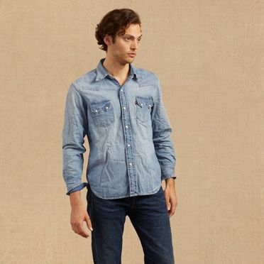 Vintage men 39 s clothing shop lvc for men levi 39 s for Levis vintage denim shirt 1950 sawtooth slim fit