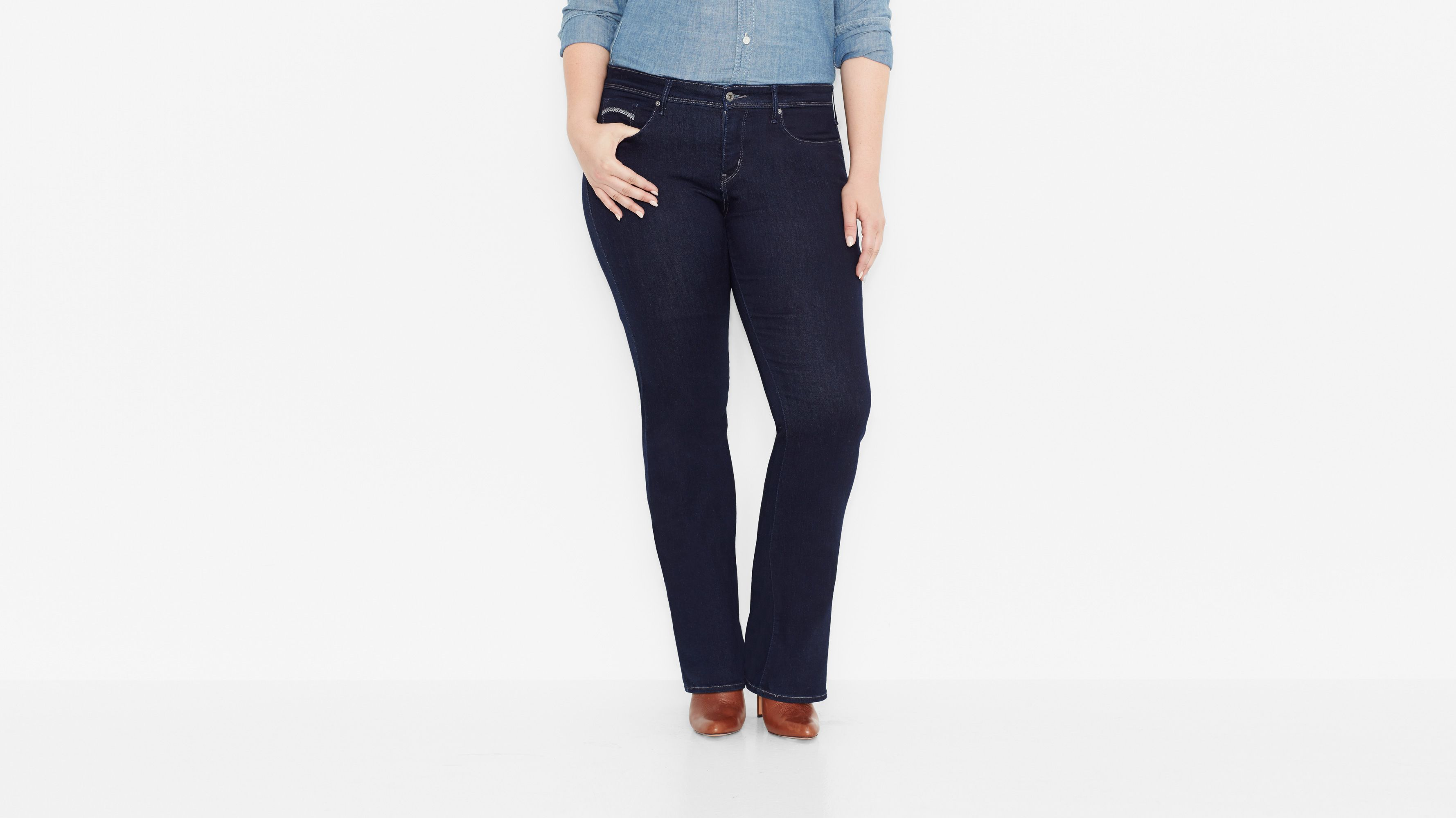 512™ Perfectly Shaping Boot Cut Jeans (Plus) - Stone Blue