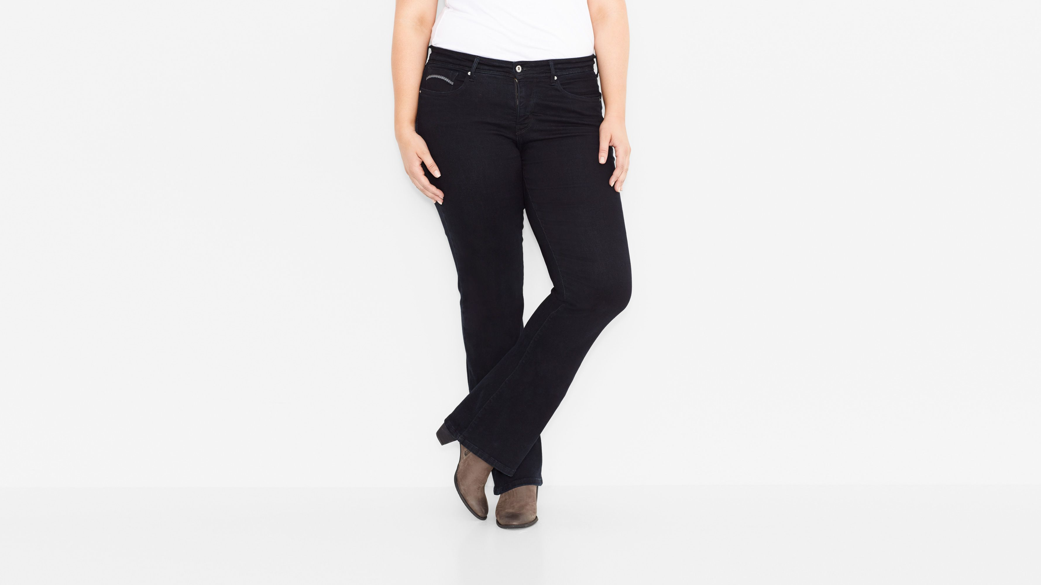 512™ Perfectly Shaping Boot Cut Jeans (Plus) - Black