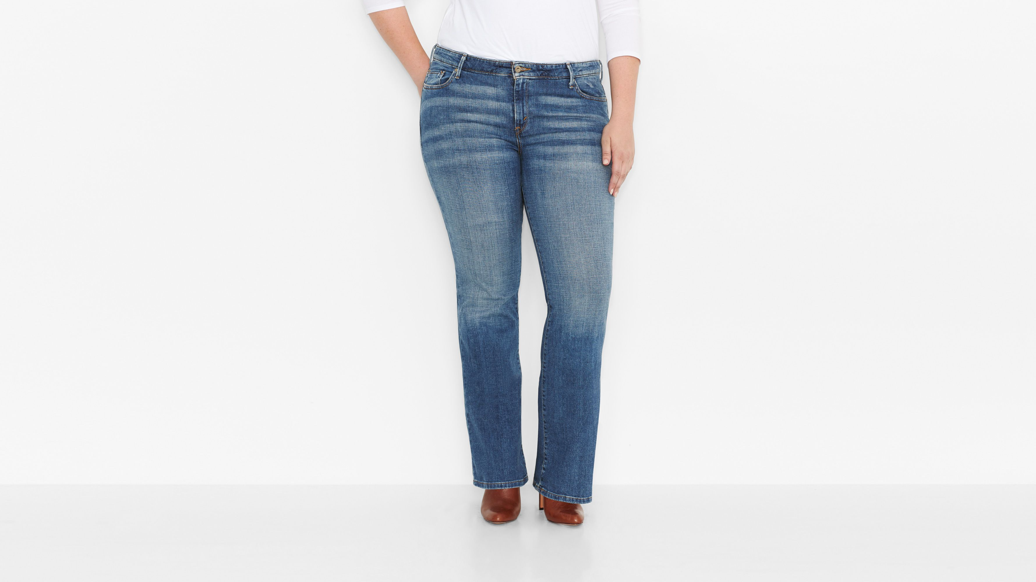 590™ Fuller Comfort Waist Boot Cut Jeans (Plus) - Valley Blues