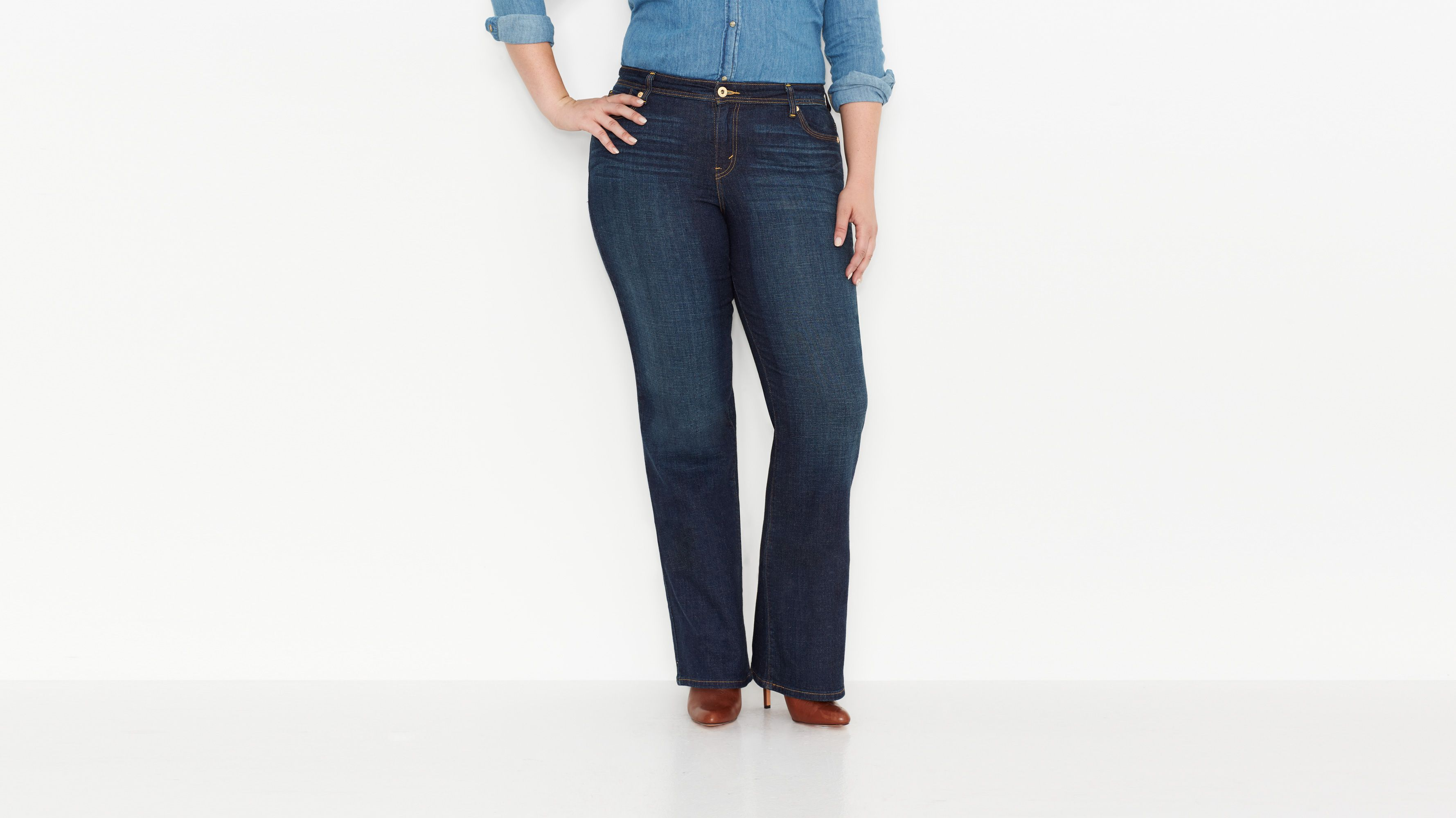 580™ Defined Contour Waist Boot Cut Jeans (Plus) - Winding Road