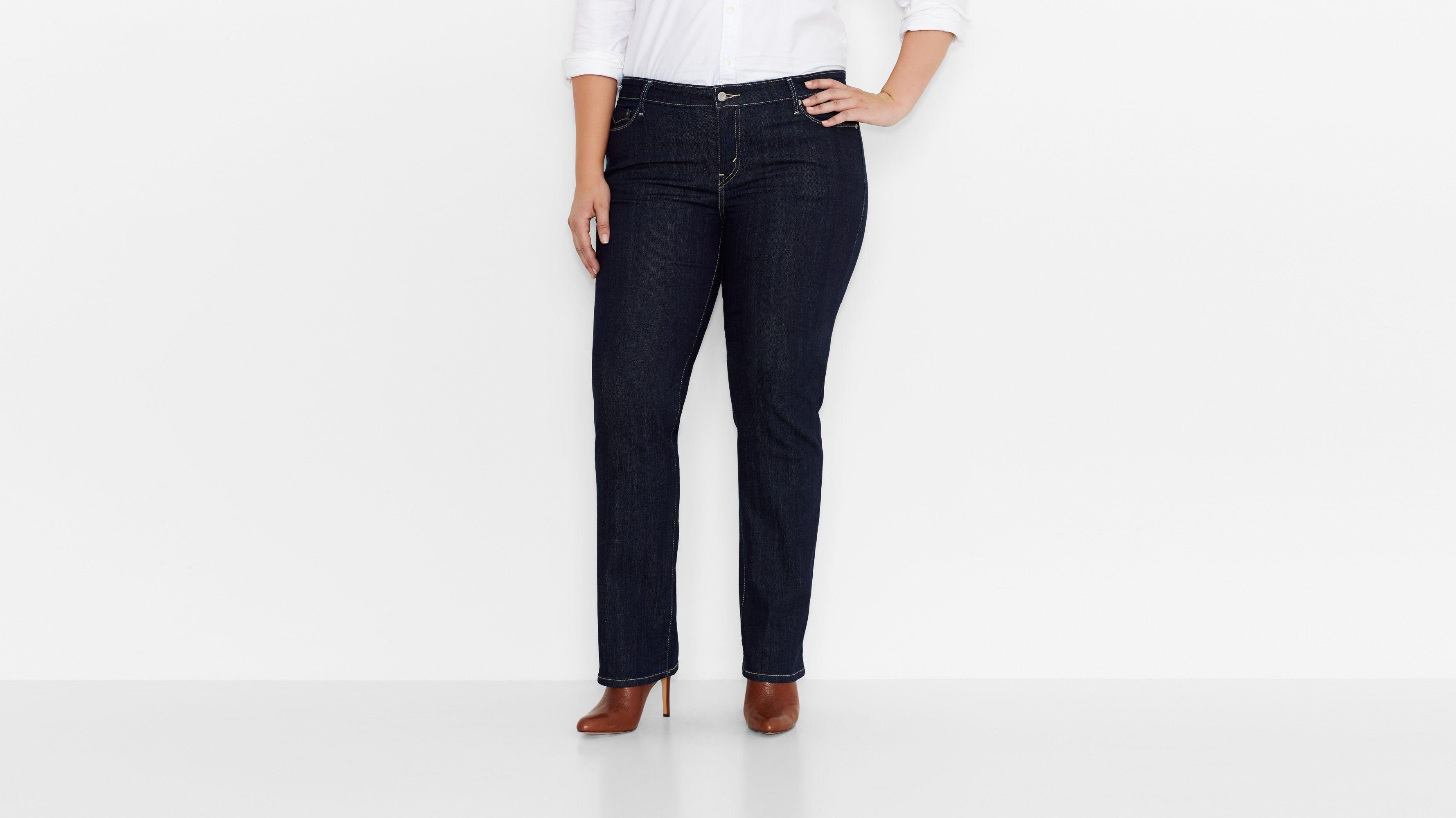 590™ Fuller Waist Straight Jeans (Plus) - Right On Blue