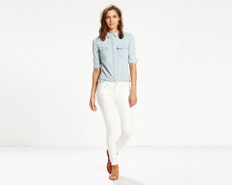 710 Super Skinny Jeans | White Noise |Levi's® Great Britain (UK)
