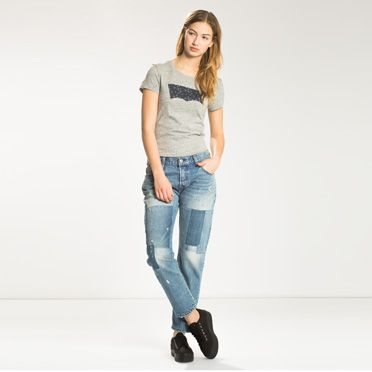 """""""Levis-501® CT Jeans for Women-Stacked Patch"""""""