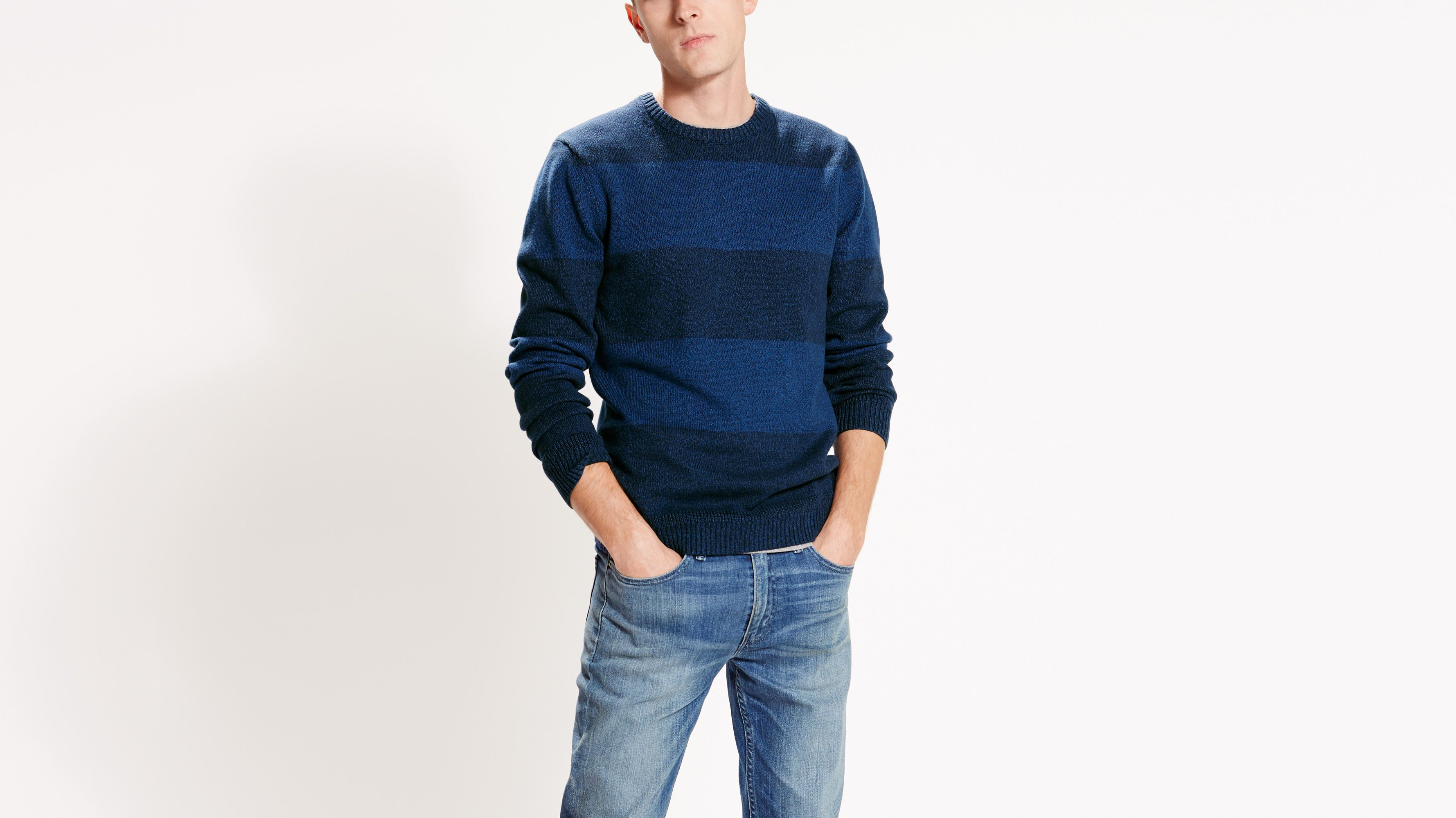 classic raybans  levisclassicstripecrewsweater