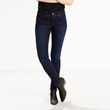 711 Exposed Zip Skinny Jeans