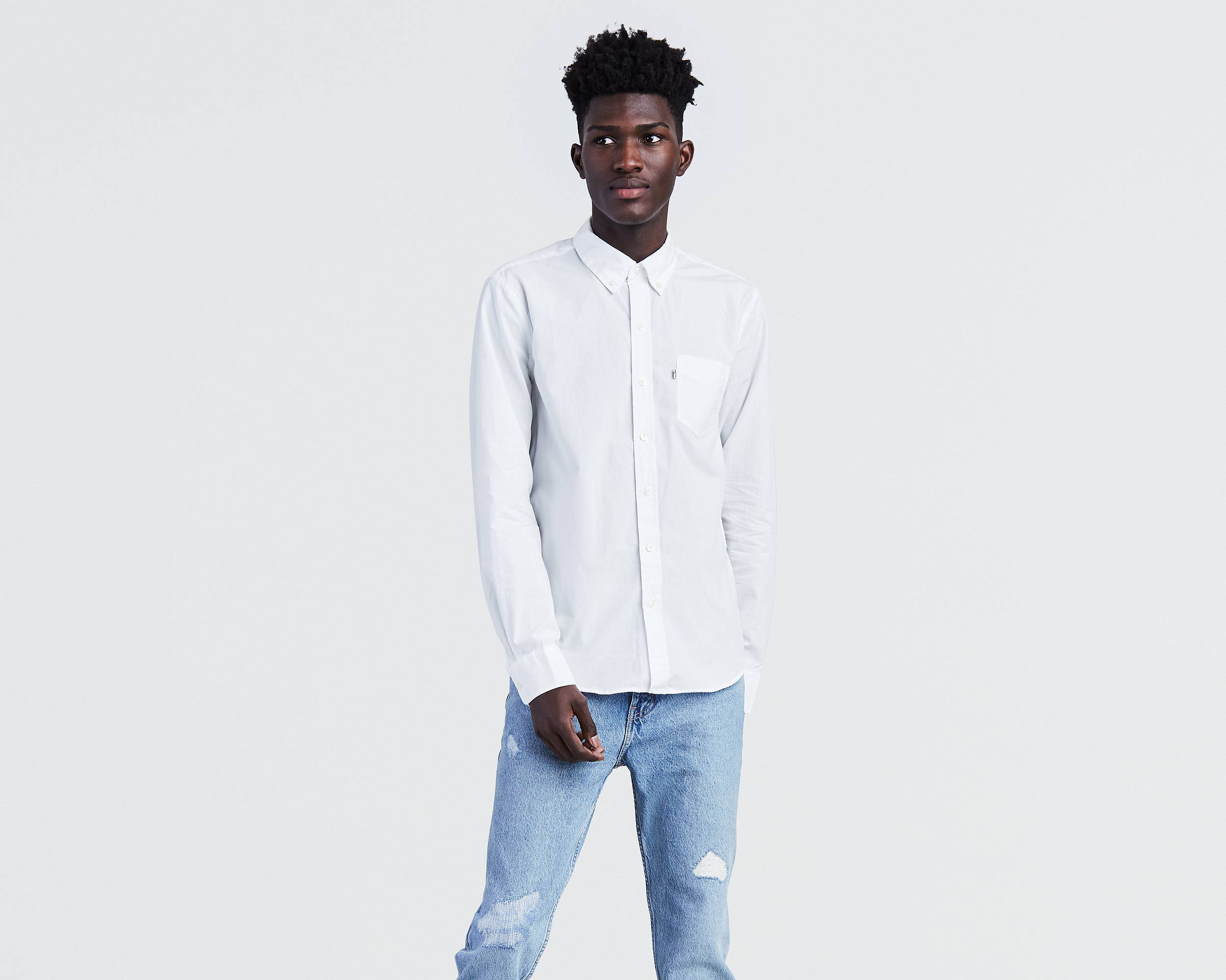 Classic One Pocket Shirt | White |Levi's® United States (US)
