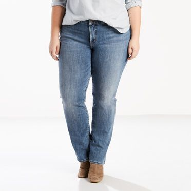 Levis-314 Shaping Straight Jeans (Plus)-Water Crackle
