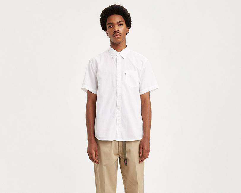 Short Sleeve Sunset One Pocket Shirt   White  Levi's® United ...