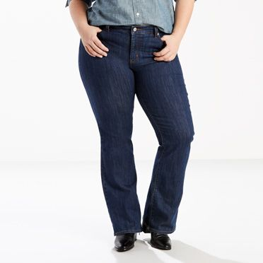 415 Relaxed Boot Cut Jeans (Plus)