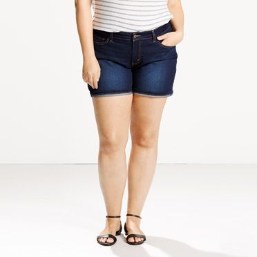 Cuffed Shorts (Plus)