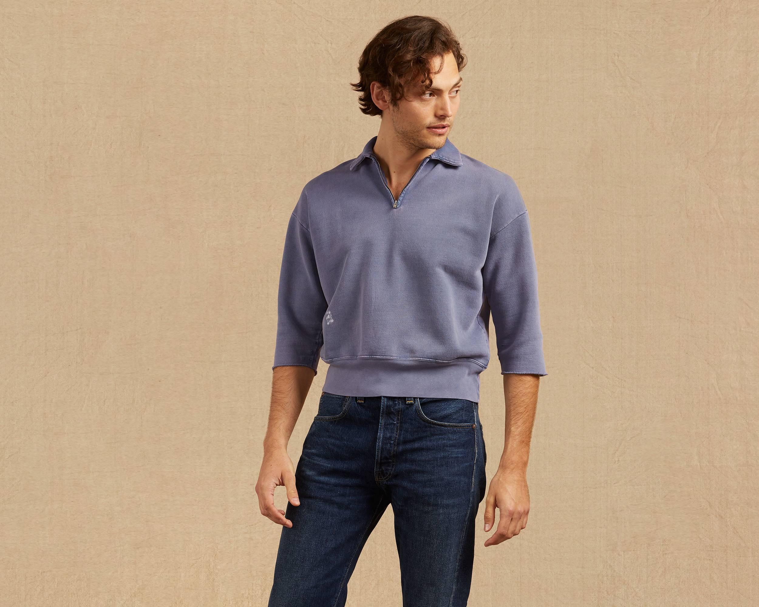 Men's Vintage Style Sweaters – 1920s to 1960s 1950s Zip Sweatshirt $195.00 AT vintagedancer.com