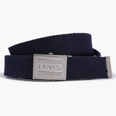 Levis-Sportswear Logo Plaque Belt-Navy