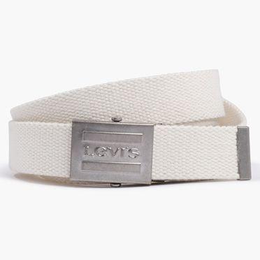 Levis-Sportswear Logo Plaque Belt-Cream