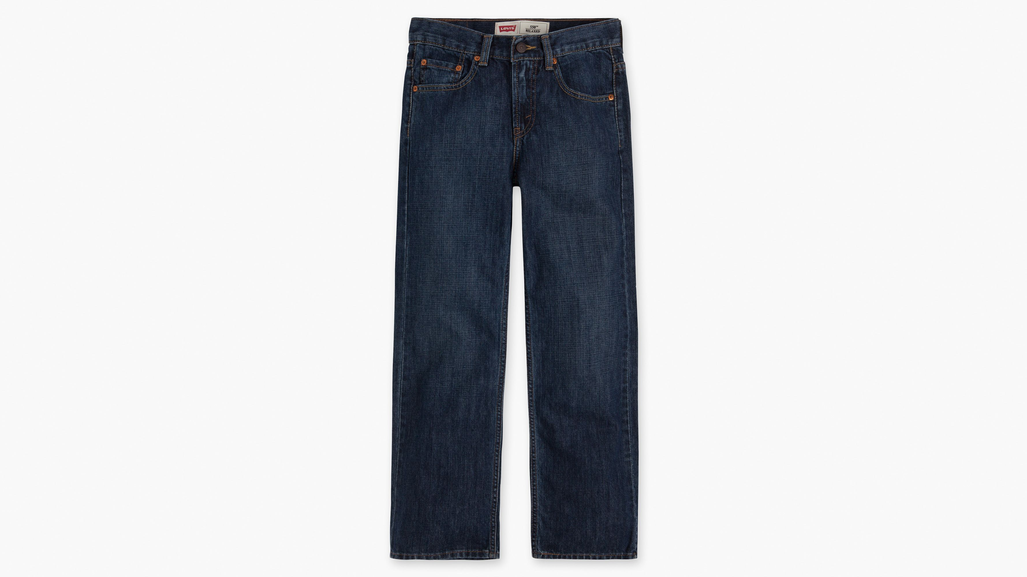 Boys (8-20) 550™ Relaxed Fit Jeans - Dark Crosshatch