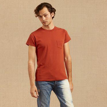 """Levis-1950s Sportswear T-Shirt-Brick"""