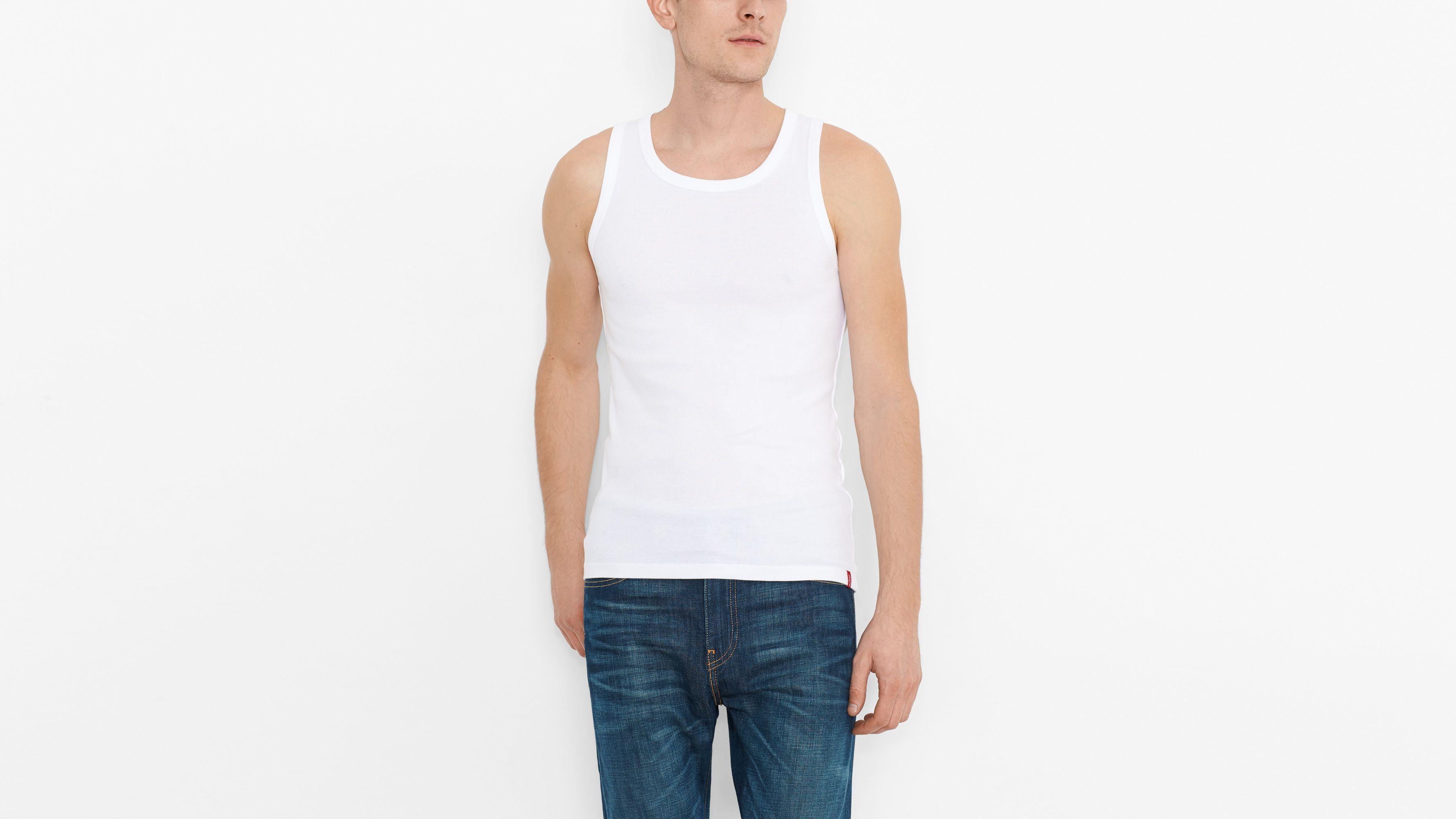 Slim Fit Tanks (2-pack) - White & White