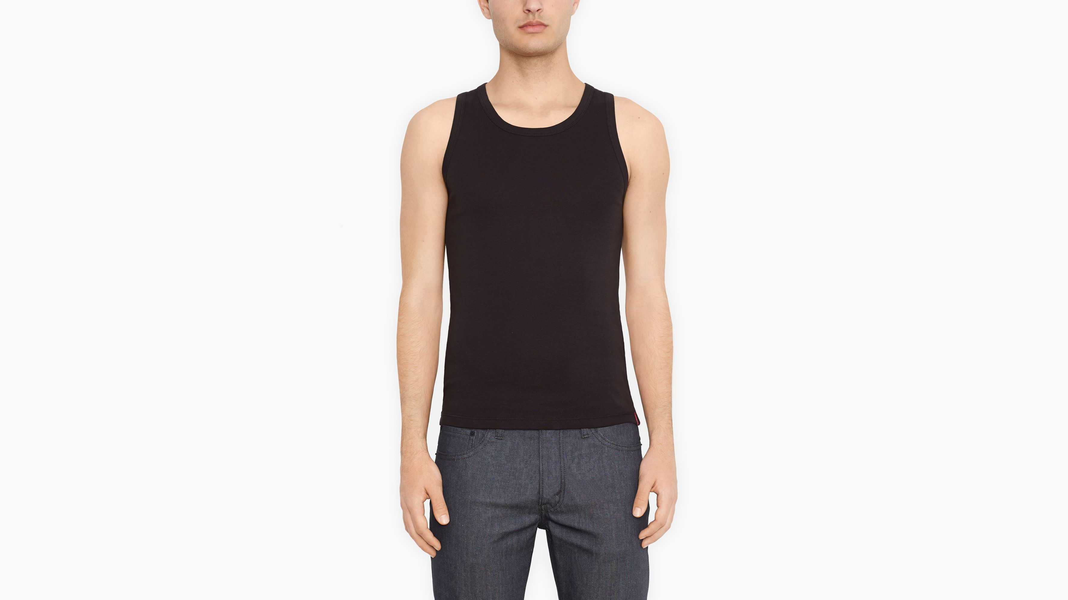 Slim Fit Tanks (2-pack) - Black & Black