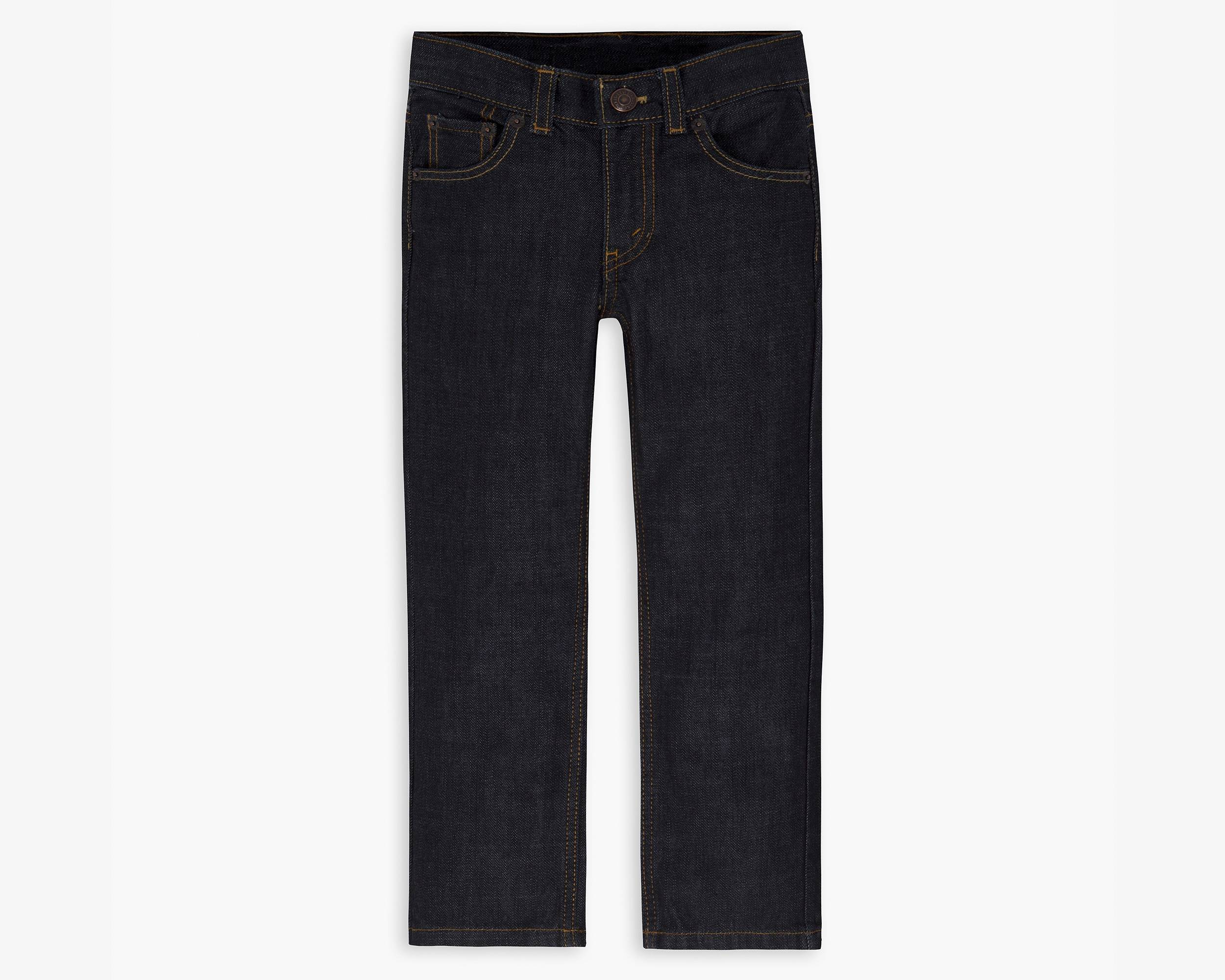 Boys Loose Fit Jeans - This classic pair of roomy, boot-cut $20 jeans from Old Navy features a hidden elastic waistband with adjustable button holes for cinching. These jeans are durable and easy to care for, and they come in husky sizes 10 through
