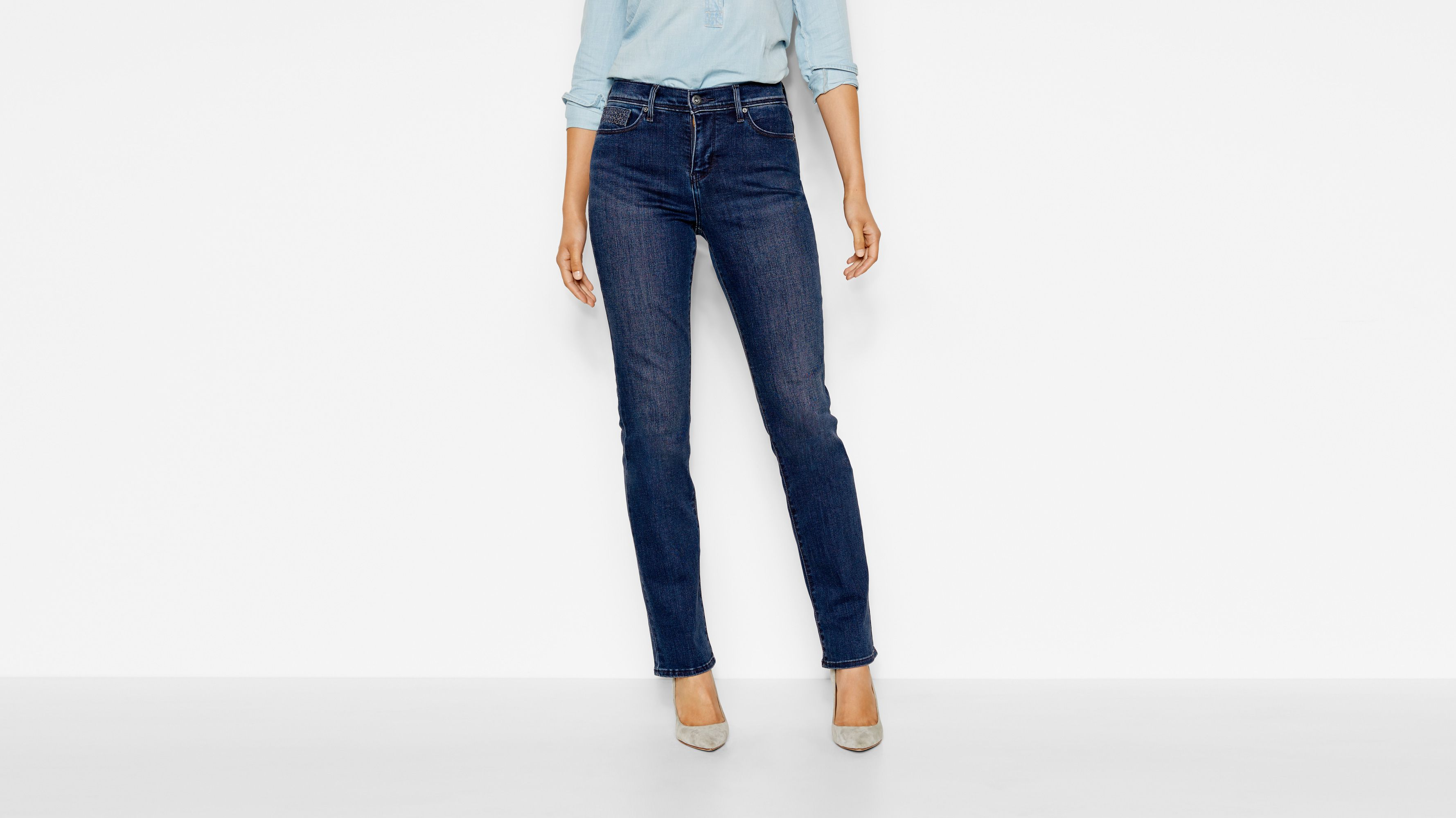512™ Perfectly Slimming Straight Jeans - Dark Mineral