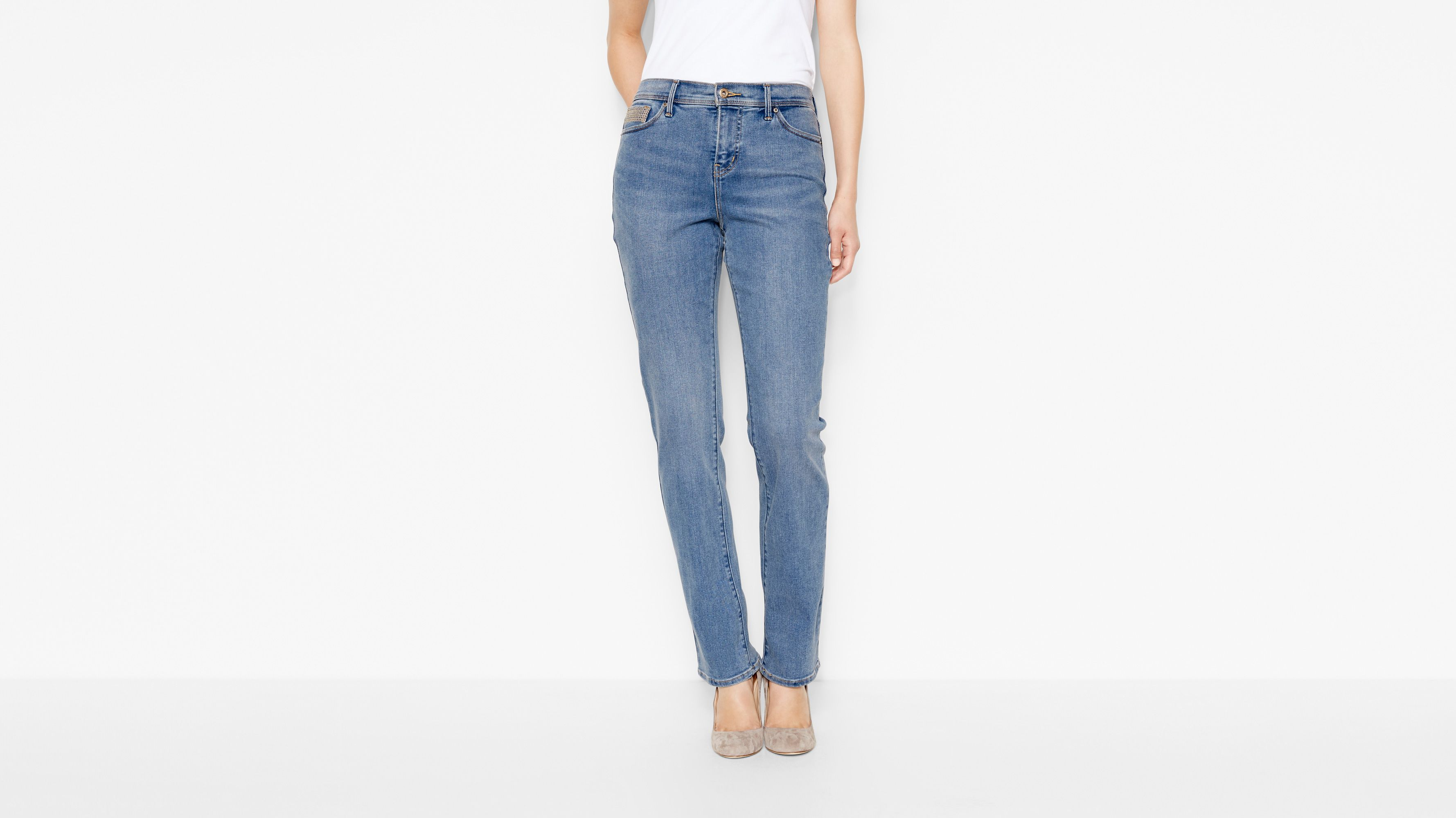 512™ Perfectly Slimming Straight Jeans - Western Light