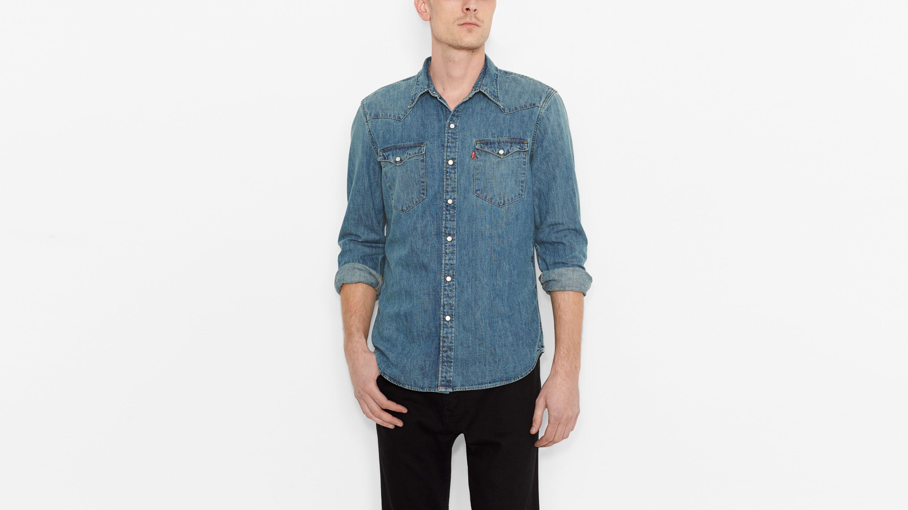 Barstow Western Shirt - Stonewash Denim