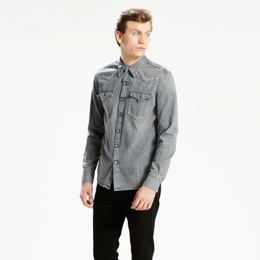 """Levis-Barstow Western Shirt-Grey Medium"""