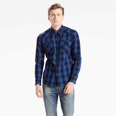 """Levis-Barstow Western Shirt-Estrella Indigo"""