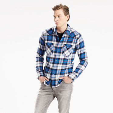 """Levis-Barstow Western Shirt-Blue"""