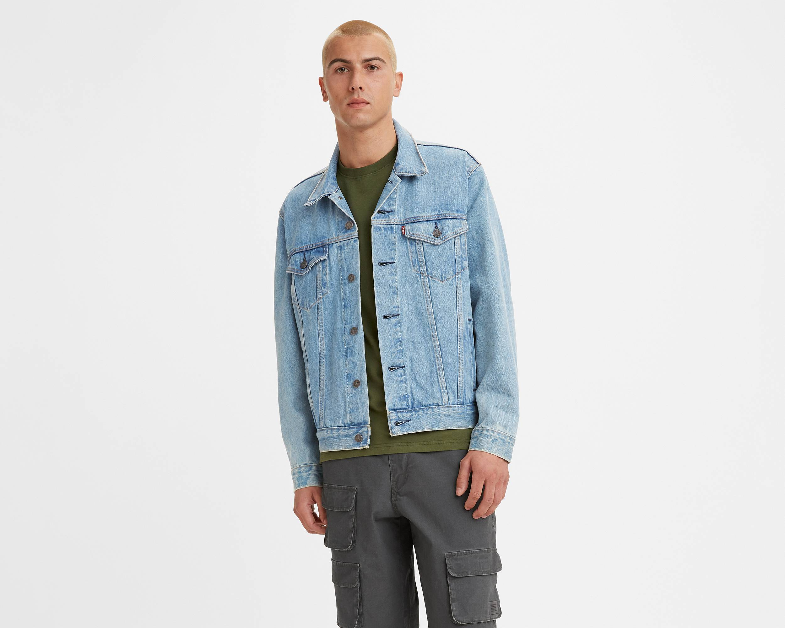 A.P.C.'s classic collection of Japanese raw, selvedge-denim in their classic New Standard cut, has now also been updated with new styles and washes; including their famous denim jeans fitted for both men and for women. Shop A.P.C.'s full denim line, complete with jeans, jackets, skirts and shirts.