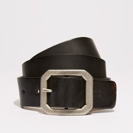 Embossed Square Buckle Belt