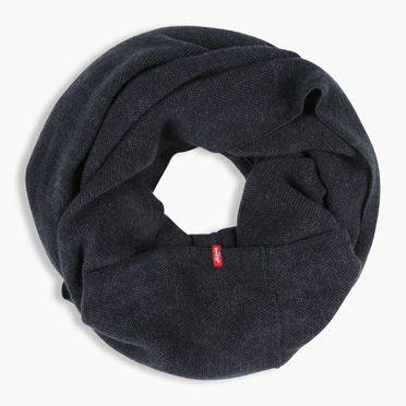"""Levis-Solid Weave Infiniti Scarf-Navy Blue"""
